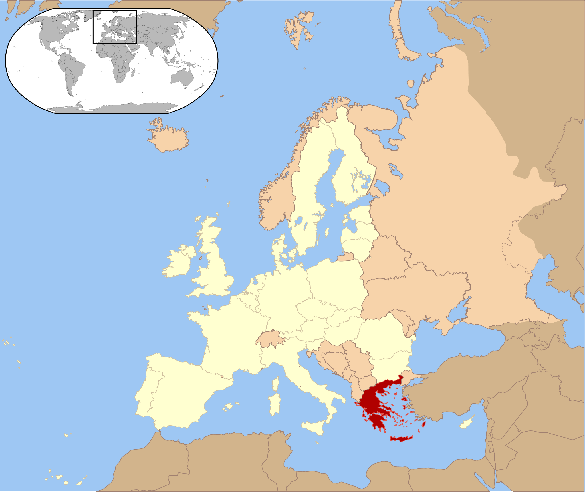 carte europe grece crete